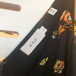 A.L.C. Dresses - A.L.C. Black Floral Cold Shoulder Dress